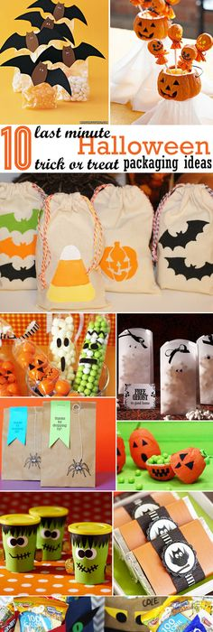 easy DIY Halloween character treat boxes Goodie bags, DIY - halloween treat bag ideas