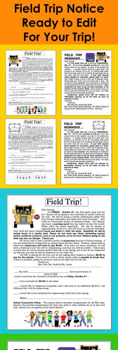 Tricks of the Trade Linky Field Trips Field trips, Preschool - check request forms