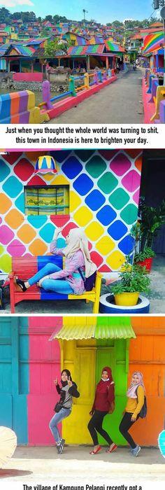 a beautiful village in semarang rainbow village kung pelangi