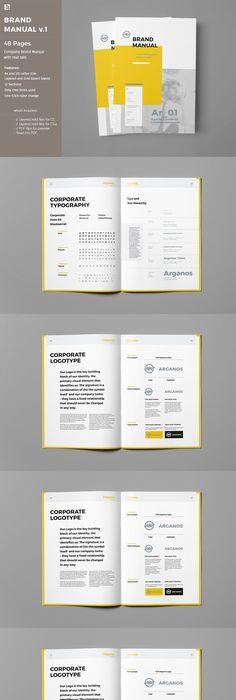 Indesign The Prestige - Brand Manual Template 530845 Portfolio