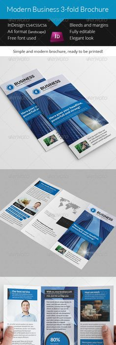 Simple Business 3 Fold Brochure Indesign Template Indesign