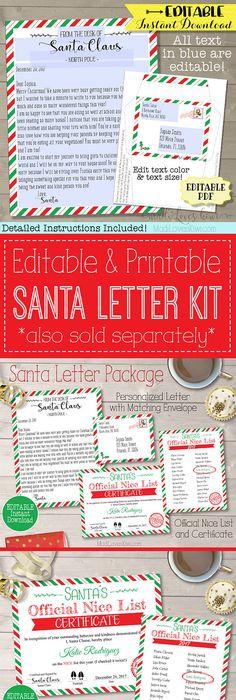 Free Santa Letter Templates Downloads Christmas Letter from Santa - best of sample letter in envelope