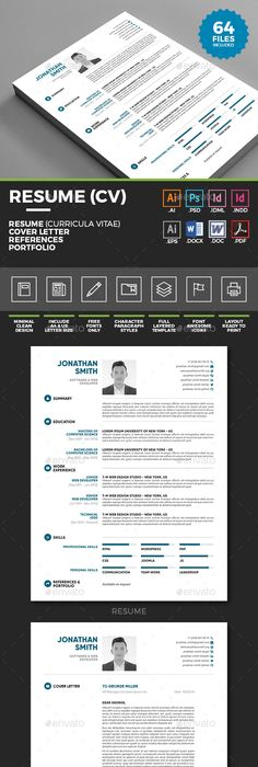 free professional resume cv template cover letter freebie psdmockup resumetemplates