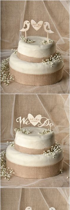 Rustic Cake Toppers For Sale