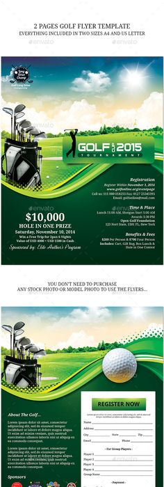 Golf Tournament Flyer | Design Inspiration | Pinterest | Golf