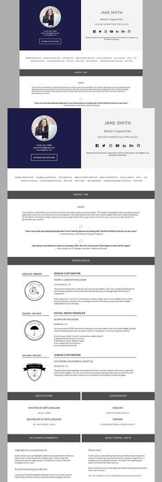 Wordpress Resume Theme Skylab  Portfolio  Photography WordPress Theme  WordPress