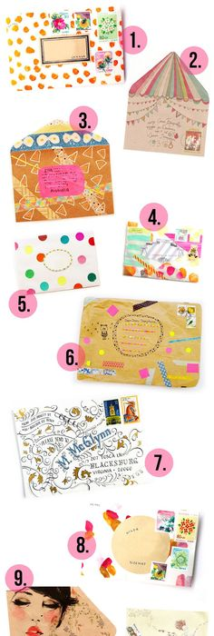 Mail Art  Really Cool Ways To Address An Envelope  Envelopes