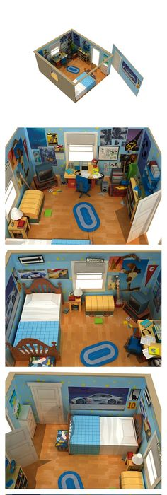 Andyu0027s Room Diorama - Toy Story3  sc 1 st  Pinterest & Disney Toy Story Activity Table and Chairs Set. He will love this ...
