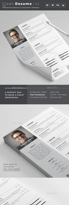Cv Resume Extraordinary 3 Page Resume Cv With Letter  Resume Cv Psd Templates And Template