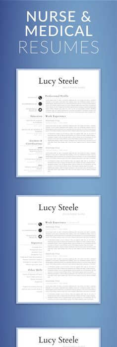 Registered Nurse Resume Template Word Medical CV Nurse CV Template - resume 5 pages