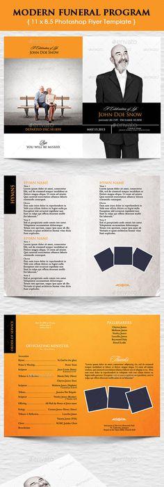 Marigold Funeral Program Design  Program Template Service Design