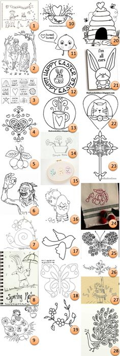 In The Garden Hand Embroidery Pattern Pdf Hand Embroidery Patterns
