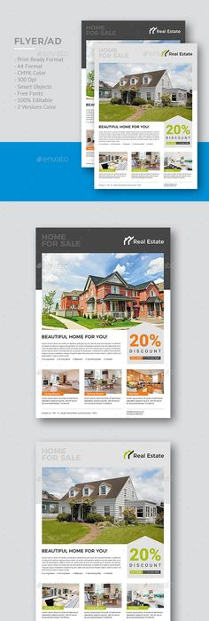 Real Estate Flyer Brochure Templates Pdf Format  No Software