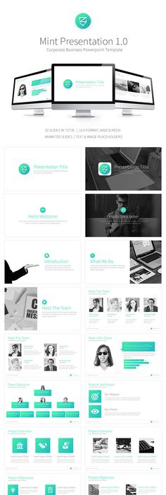 Powerpoint template designs free download powerpoint presentation mint powerpoint template toneelgroepblik Choice Image