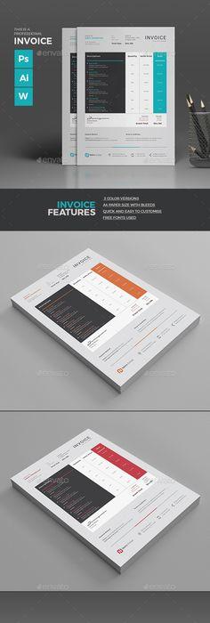 Invoice Excel Adobe Illustrator Template And Adobe