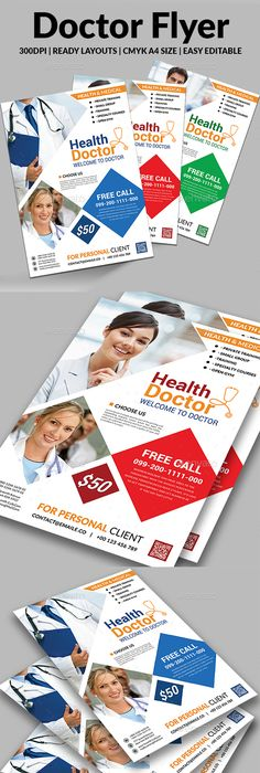 Health  Medical Doctors Flyer Bundle  Medical Doctor Medical