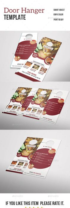 Go Fresh Restaurant Door Hanger  Door Hanger Template Hanger And