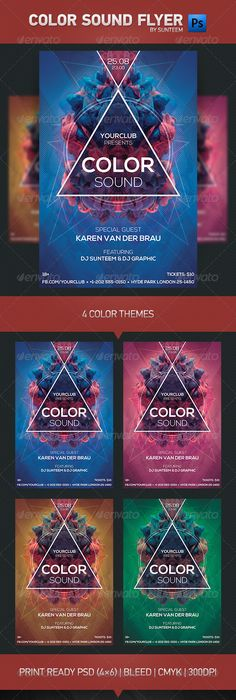 Color Music Psd FlyerPoster Template HttpGraphicriverNetItem