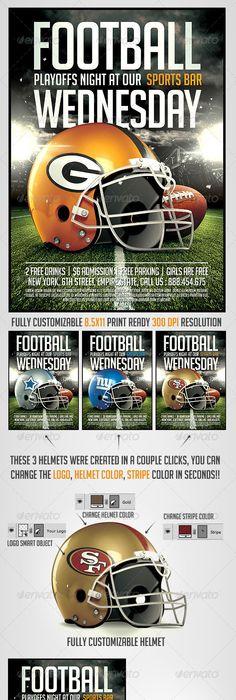 Big Game Football Flyer Template | Games football, Flyer template ...