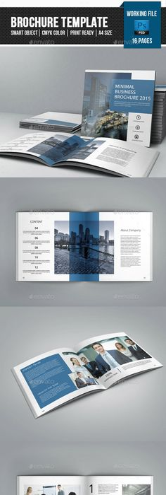 Square Bifold Template   Pages  Corporate Brochures