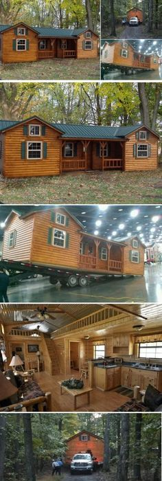 Cumberland Log Cabin Kit Starting From $16,348 By The Amish Cabin Company |  Http:/