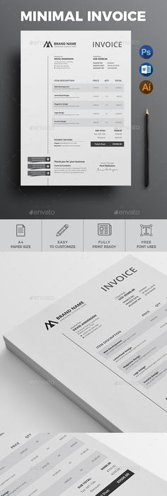 Logo Design Proposal Invoice Template To Download  Graphic Design