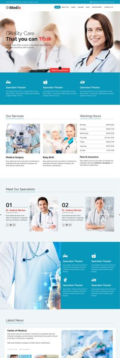 Physiotherapy  Elder Care Responsive Website Template  Physio