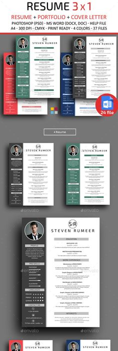 Sets Of Free Indesign CvResume Templates  Free Indesign