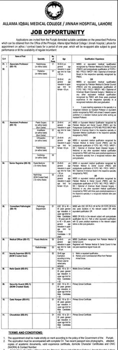 Liaquat University Hospital Jobs  In Hyderabad For Servants