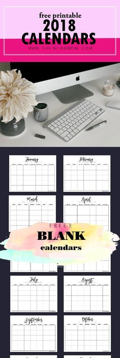 Free Printable This Week One Page Calendar Planner By Erin