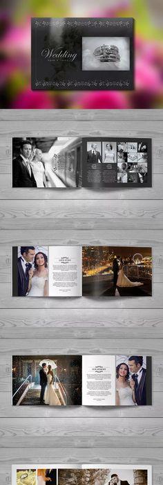 Minimal Photo Album Template InDesign INDD | Photo Album Design ...