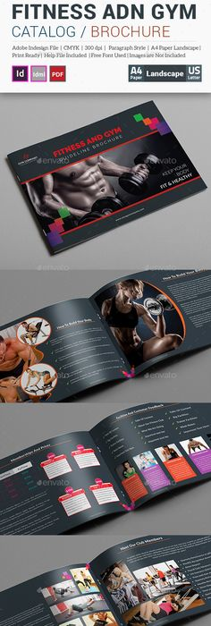 Fitness Brochure  Creative Brochure Design Brochures And Layout