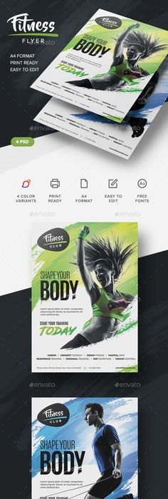 Power Energy Fitness Flyer Template  Energy Fitness Power Energy