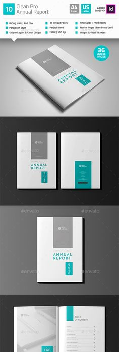 Annual Report Template  Annual Reports Behance And Template