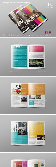 Newsletter Template | Newsletter templates, Template and Business
