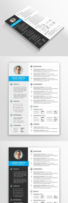 Resume Template Word  Template And Fonts
