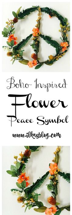 Boho Inspired Diy Peace Symbol Diy Flowers Symbols And Peace