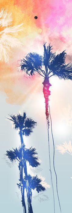 Affiche palmier 50X70cm - Brazil - Affiches décoratives - Affiches