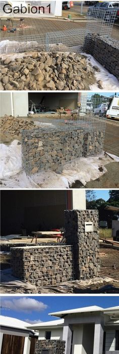 unbelievable curved gabion wall. Gabion letterbox and entry walls http www gabion1 com rETAINING WALL TOP ROUNDED MODERN  Google Search LA Detail