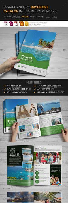Travel Agency Brochure Catalog Indesign 2 Corporate Brochure