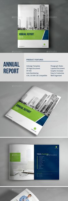 Simple Annual Report Template  Annual Reports Template And Brochures