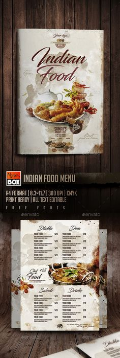Modern Restaurant Food Menu Template Psd  Best Food Menu