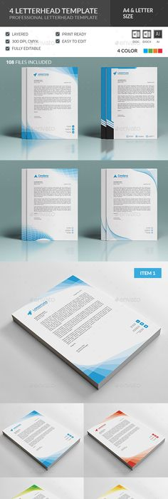 Shape Corporate Letterheads  Shapes Letterhead Template And