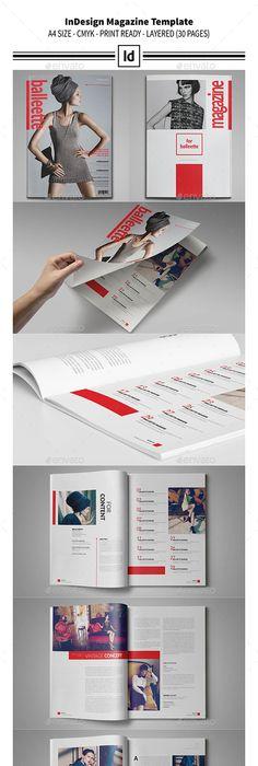 Multipurpose InDesign Magazine Template | Indesign magazine ...