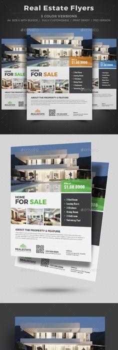 Flyer Template Real Estate V   Pinteres