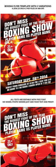 Mma Boxing Flyer Template Mma Boxing Flyer Template And Mma