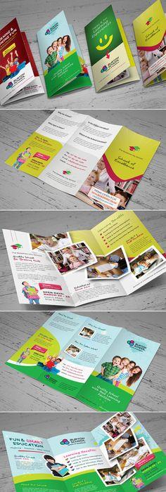 Junior School Promotion Trifold Brochure Template  Brochure