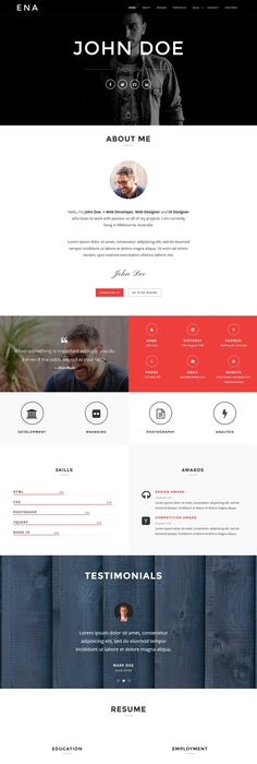 29 Free/Paid WordPress vCard Themes 2018 Wordpress, Online resume
