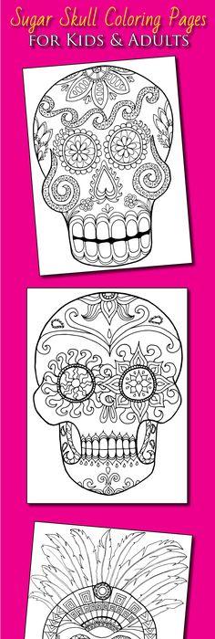 Celebrate Dia de los Muertos with this free calavera printable from - copy dia de los muertos mask coloring pages