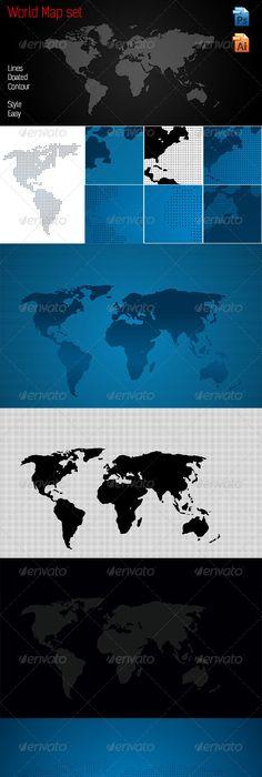 Grunge world map grunge font logo and fonts world map set dots lines contour gumiabroncs Choice Image